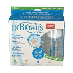 Dr Brown Suction Bottle Polypropyleen 240ml 3 unidades