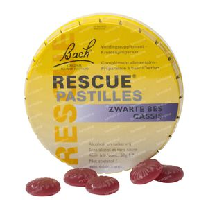 Bach Bloesem Rescue Pastilles Blackcurrant Sugar free 50 g