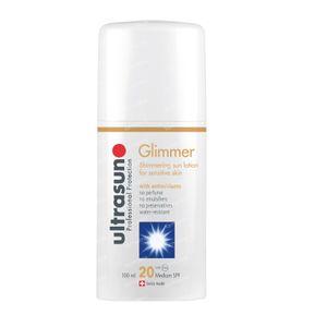 Ultrasun Medium SPF20 Sensitive Glimmer Without Perfume 100 ml