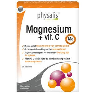 Physalis Magnesium + Vitamine C 30 tabletten