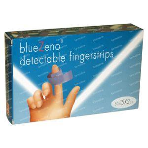 Bluezeno Detectable Fingerstrip 15cm x 2cm 50 St