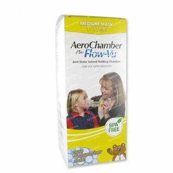 Aerochamber Plus Anti-Statique + Flow-Vu-Masque Enfant 1 st