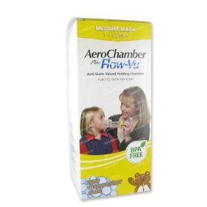 Aerochamber Plus Anti-Statisch + Flow-Vu-Masker Kind 1 stuk