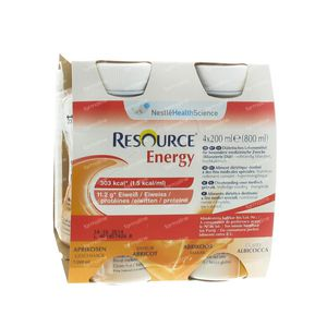 Resource Energy Bevanda Albicocca 4x200 ml mlg