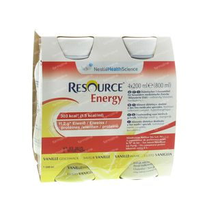 Resource Energy Bevanda Vaniglia 4x200 ml