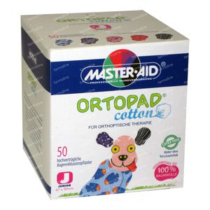 Ortopad Cotton Junior Eye Plaster 50 St