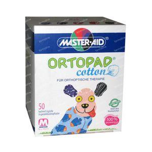 Ortopad Algodón Medio Parche Ocular 50 unidades