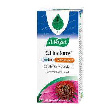 A.vogel Echinaforce Junior + Vitamine C Frambozensmaak 40 tabletten