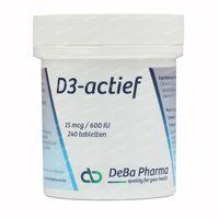 Deba D3-Actif 15mcg 240  tabletten