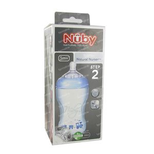 Natural Touch Feeding Bottle Propyl. 3M Blue + Teat 330ml 1 item