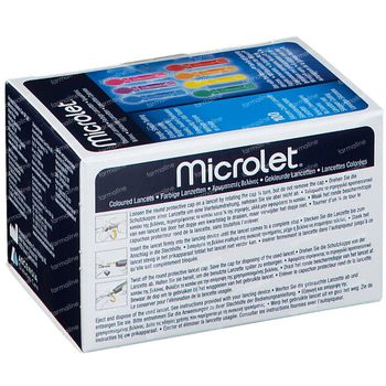 Bayer Microlet Lancetten Steriel Gekleurd 100 stuks