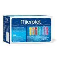 Bayer Microlet Lancetten Steriel Gekleurd 100 st
