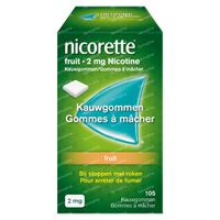Nicorette® Fruit Kauwgom 2mg - bij Stoppen met Roken 105  kauwgoms