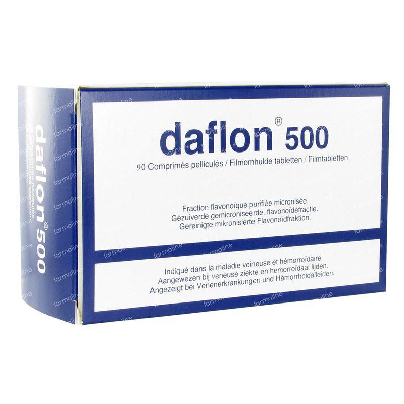 Daflon 500mg 90 tabletten hier online bestellen | FARMALINE.be