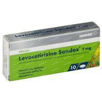 Levocetirizine 5mg Sandoz 10  tabletten