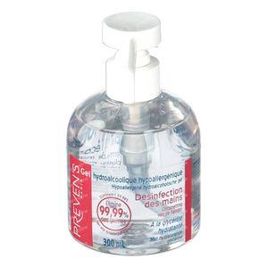 Preven's Gel Mains Hydroalcoolique + Pompe 300 ml