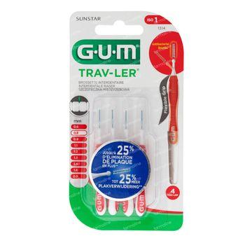 GUM Trav-Ler 0,8mm 4 pièces