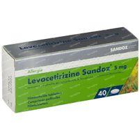 Levocetirizine 5mg Sandoz 40  tabletten