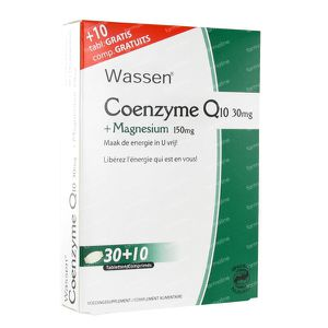 Coenzyme Q10 + Magnesium 40 tablets
