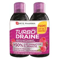 Forté Pharma Turbodraine Framboise Duopack 2x500 ml