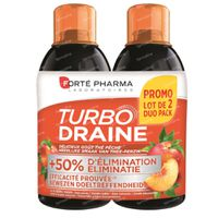Forté Pharma Turbodraine Groene Thee-Perzik Duopack 2x500 ml