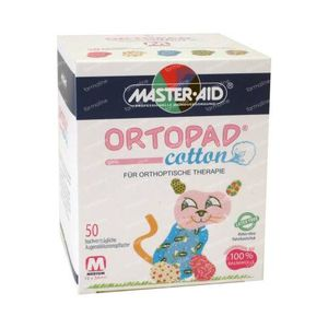 Ortopad Cotton Medium Girls Augenpflaster 50 stuks