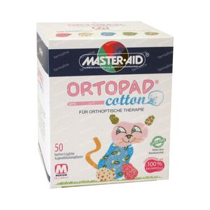 Ortopad Cotton Medium Girls Eye Plasters 50 St