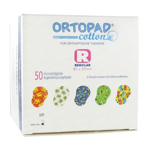 Ortopad Cotton Regular Boys Pansements Oculaires 50 pièces