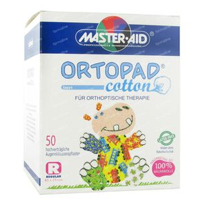 Ortopad Cotton Regular Boys Oogpleisters 50 stuks