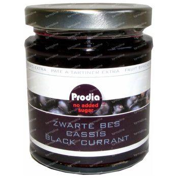 Prodia Broodbeleg Extra Zwarte Bes + Maltitol 215 g
