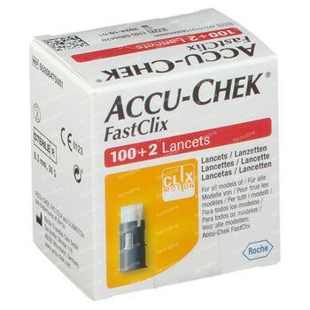 Accu-Chek Fastclix Lancetten 100+2 stuks