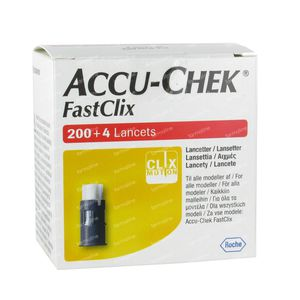 Accu-Chek Fastclix Lancettes 200+4 pièces