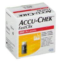 Accu-Chek Fastclix Lancetten 200+4 stuks