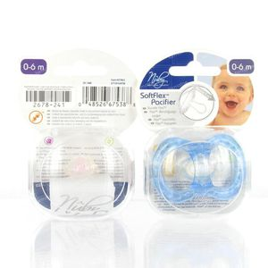 Nuby Pacifier Natural Flex Classic Oval 0-6M 1 pieza