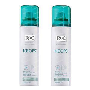 RoC Keops Deodorant Droge Spray Verlaagde Prijs 2x150 ml