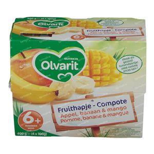 Olvarit Fruit Pomme-Banane 6+ 4x100 g