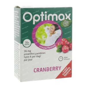 Optimax Cranberry Slow Release 30 tablets