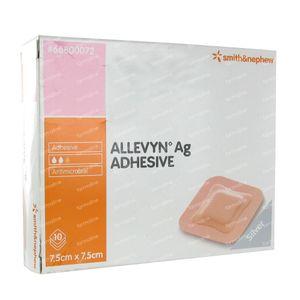Allevyn AG Zelfklevend Steriel 7,5x7,5CM 66800072 10 stuks