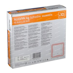 Allevyn AG Adhesief 12,5x12,5CM 66800076 10 stuks
