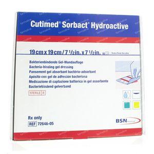 Cutimed Sorbact Hydro 19cm x 19cm 10 pieces