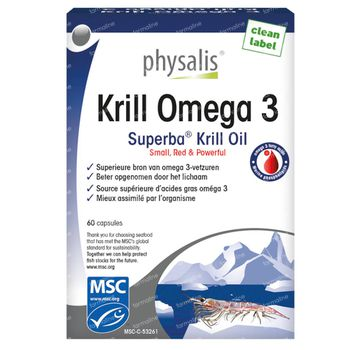Physalis Krill Omega 3 60 capsules