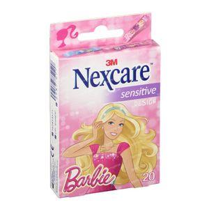 3M Nexcare Sensitive 3 Maten Assortiment Barbie N0920MBW 20 pansements