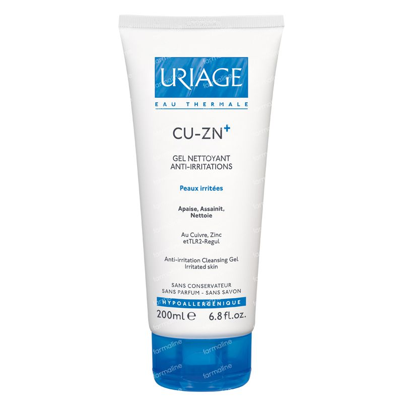 uriage cuivre zinc gel nettoyant 200 ml commander ici en ligne. Black Bedroom Furniture Sets. Home Design Ideas