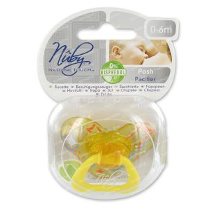 Natural Touch Pacifier Ortho Posh +6M 2 St