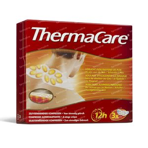 Thermacare Self Heating Compresses Neck/Schoulder/Wrist 3 unidades