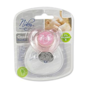 Natural Touch Pacifier Ortho Classic +6M 2 St