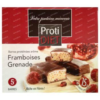 Protidiet Barre Framboise Grenade 5 pièces