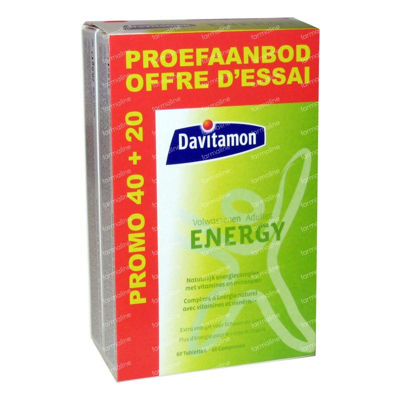 Davitamon Energy Volwassenen 60 St Tabletten Online Bestellen