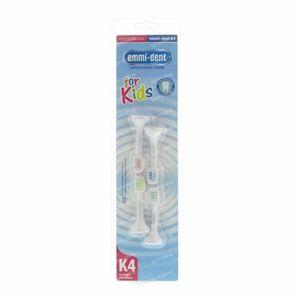 Emmi-Dent K4 tête de brosse, enfants 4 pièces
