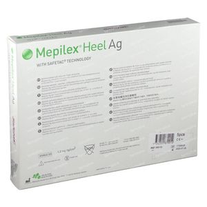 Mepilex Heel AG Stérile 13cm x 20cm 5 pièces